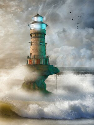 Poster Fantasielandschaft