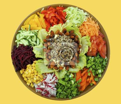 Farbverläufe Gemüsesalat (gesunde Ernährung, Vitamine, Ernährung)