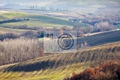 Farmland in Val d'Orcia, Toskana (Italien).