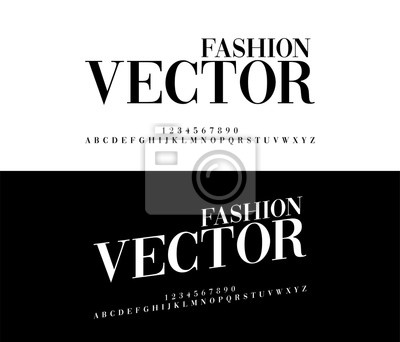 Poster Fashion elegant alphabet letters set. Exclusive Custom Letters. alphabet designs. Typography font classic style, regular and italic. vector illustrator