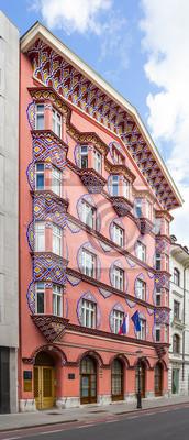 Fassade der Cooperative Bank Building, Ljubljana.
