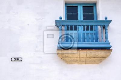 Fassadendetail eines kolonialen Haus in Havanna, Kuba