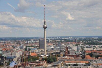 Poster Fernsehturm, Alex, Skyline, Berlin, Berlin-Mitte, Zentrum, Funkturm, Alexanderplatz, Rotes Rathaus, Stadt, Berliner Dom, Unter den Linden, Mitte, Innenstadt