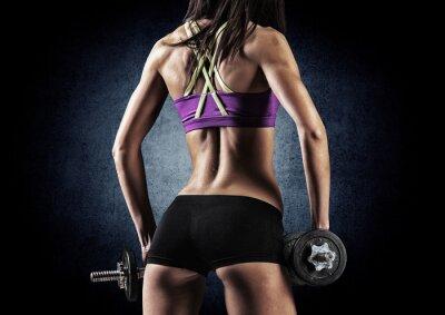 Poster Fitness sportliche Frau in der Ausbildung