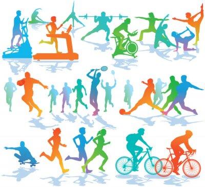 Poster Fitness und Sport