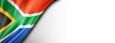 Poster flag of south africa  isolated on a white banner background
