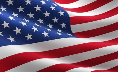 Poster Flagge der Vereinigten Staaten von Amerika