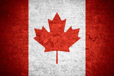 Poster Flagge von Kanada