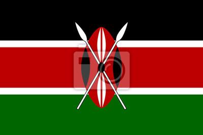 Poster Flagge von Kenia