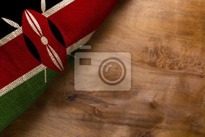 Poster Flagge von Kenia aus grobem Stoff