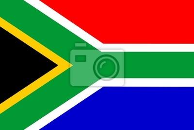 Poster Flagge von Südafrika