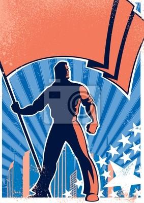 Flaggenträger Poster 2