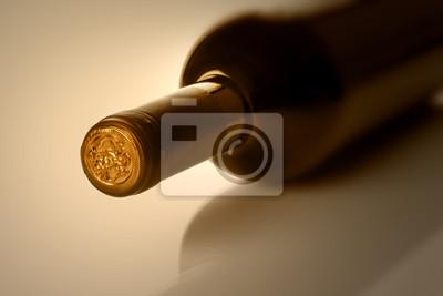 Flasche Wein in sephia