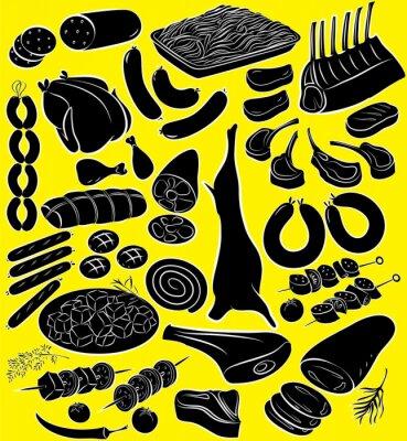 Poster Fleisch