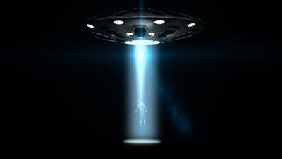 Poster Fliegende Untertassen ufo entführt einen Mann