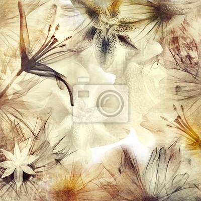 floral background in Pastellfarben