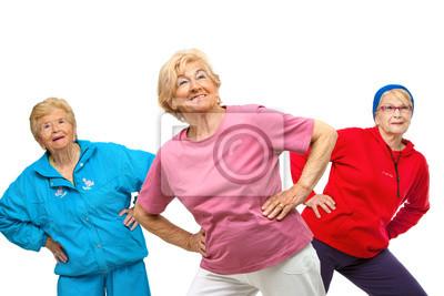 Flotter Dreier älteren Frauen fit.
