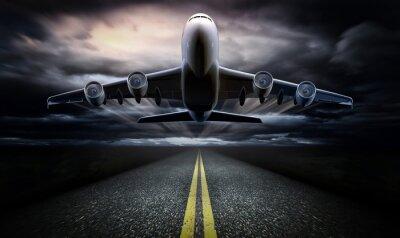 Poster Flugzeug auf dem Roll