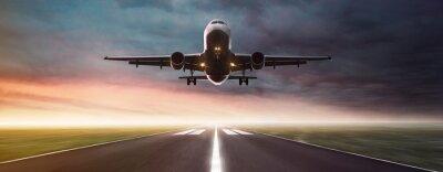 Poster Flugzeug im Flug