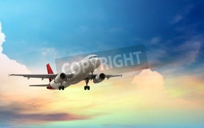 Poster Flugzeug Start