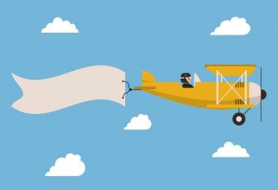 Poster Flugzeug-Symbol-Design