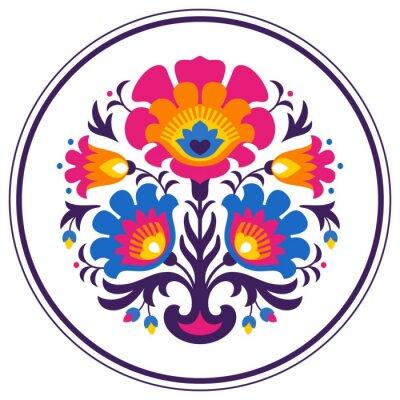 Poster Folk papercuts - Flowers