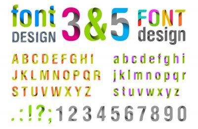 Poster Font-Design. Ribbon Alphabet. Vektor.