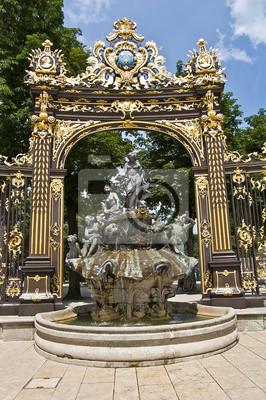 Fontaine Neptune sur la Place Stanislas Nancy à