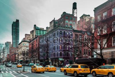 Poster Foto von Gebäuden und Straßen von Upper West Site von Manhattan, New York City