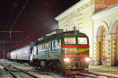 Poster Fracht-Passagier-Diesel-Zug