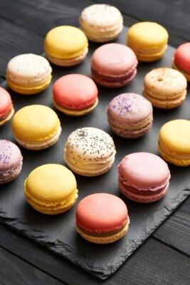 Poster Französisch köstliche Dessertmakronen