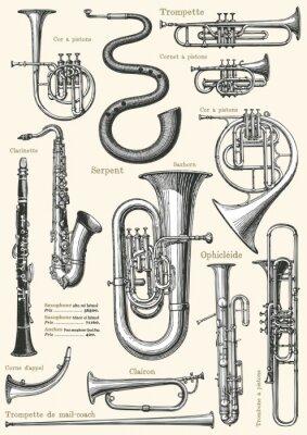 Poster Französisch Musikplakat