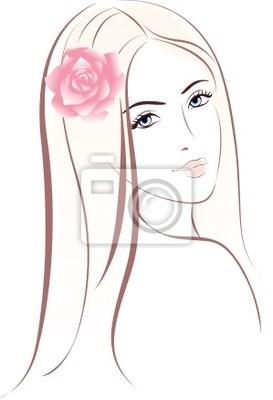 Poster Frau Gesicht. Weibliche Porträt.