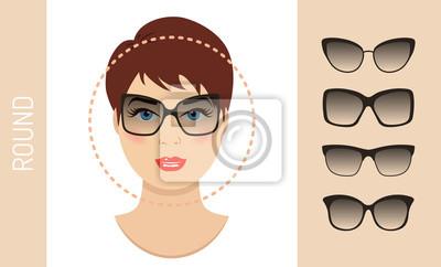 Frau Sonnenbrille Formen Für Runde Frauen Gesicht Typ Verschiedene