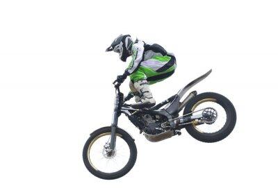 Poster Freestyle Stunt Rider isoliert auf weiß.