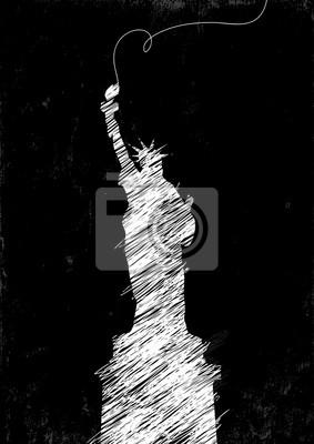 Freiheitsstatue Zeichnung