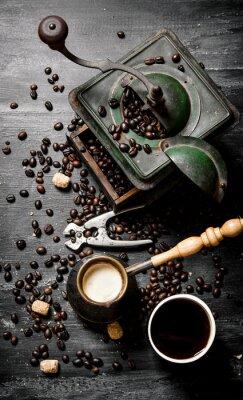 Poster Frische gebrühte Kaffeekanne