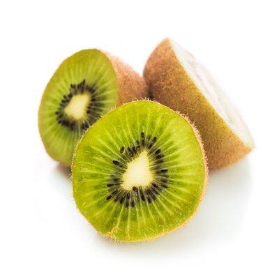 Poster Frische grüne Kiwi isoliert