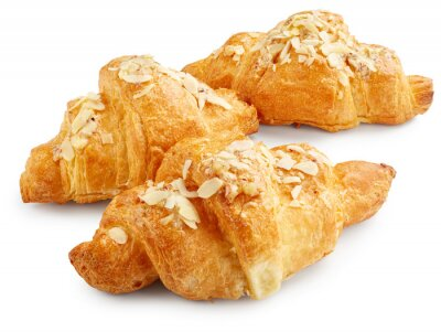 Poster Frische süße Croissants