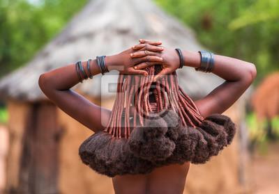 Poster Frisur von Himba-Frauen, Stämme, die in Nord-Namibia leben