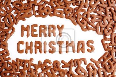 Russisch Frohe Weihnachten.Poster Frohe Weihnachten Mit Russisch Brot