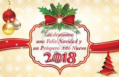 Frohe Weihnachten Gutes Neues Jahr.Poster Frohe Weihnachten Und Ein Gutes Neues Jahr 2018 In Spanisch