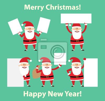 Poster Fröhliche Weihnachten. Frohes neues Jahr