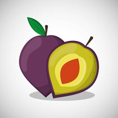Poster Früchte Icon-Design