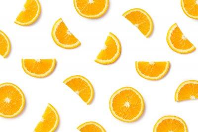 Poster Fruit pattern of orange slices