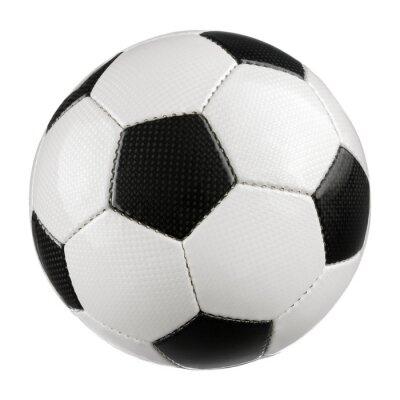 Poster Fußball auf reinem Weiß