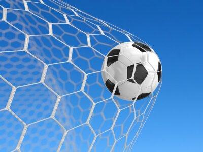 Poster Fußball im Netz