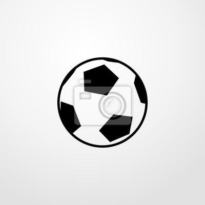 Poster Fussball Symbol Fussball Zeichen