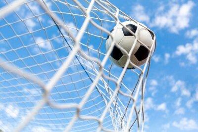 Poster Fußball, Tor, Fußball-Spielball.