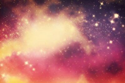 Poster Galaxy mit Sternen und Fantasy-Universum Platz.